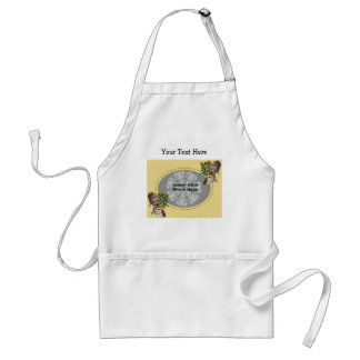Little Girl With Puppies Photo Apron