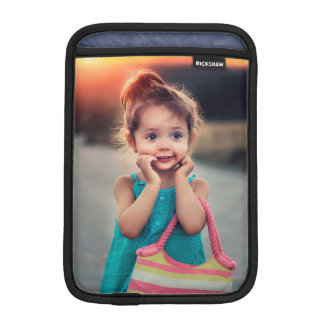 Little Girl with Striped Handbag iPad Mini Sleeve