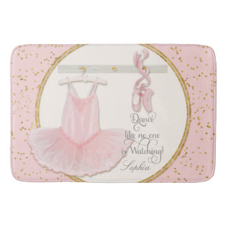 Little Girls Ballet Slipper Ballerina Tutu Dance Bath Mat