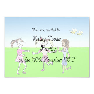 Little girls birthday party invitation