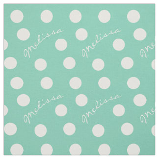 Little Girls Custom Name and Color Polka Dot Fabric