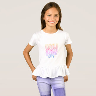Little Girls'_Heart Cluster_Name Template_ T-Shirt