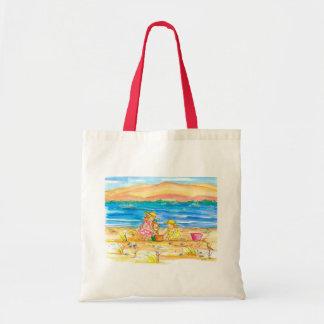 Little Girls Mountain Lake Beach Tote Bag