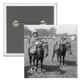Little Girls on Horseback early 1900s Pins