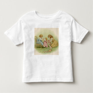Little Girls Playing with Doll T-shirts