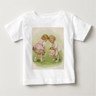 Little Girls Playing with Dolls Tees