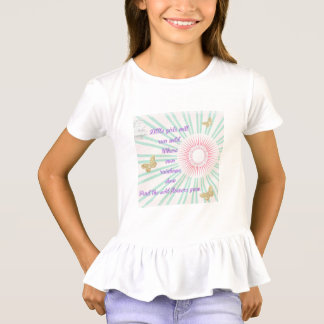 Little girls poem ruffle shirt