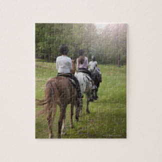 Little girls riding horses jigsaw puzzle