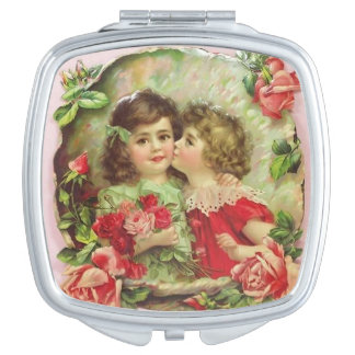 Little Girls Surrounded by Roses, Vanity Mirror