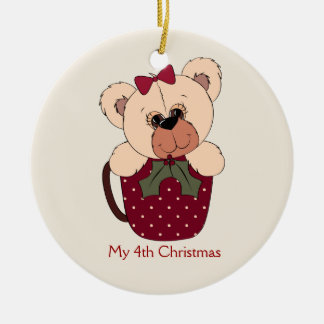 Little Girls Teddy Bear Ornament