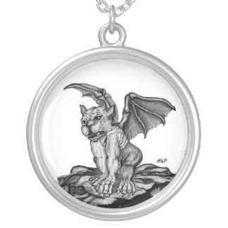 Little GOLEM - Gargoyle Silver Plated Necklace