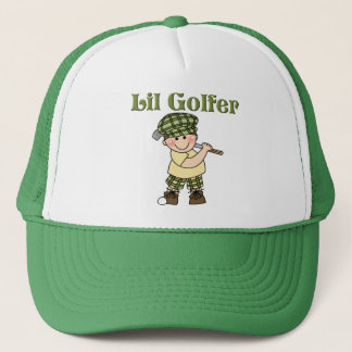 Little Golfer Playing Golf Trucker Hat