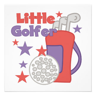 Little Golfer T-shirts and Gifts Custom Invitations