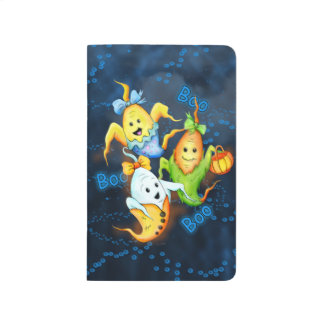 LITTLE GOSTS ALIENS CARTOON Pocket Journal