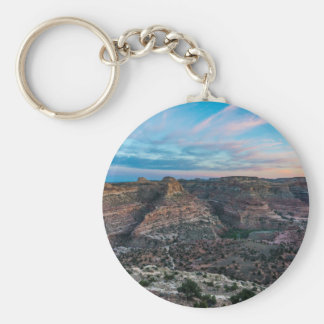 Little Grand Canyon Sunset - Wedge Overlook - Utah Basic Round Button Keychain