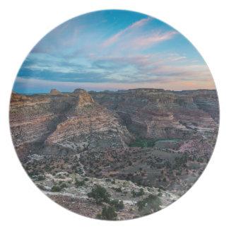 Little Grand Canyon Sunset - Wedge Overlook - Utah Dinner Plate