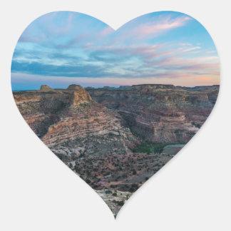 Little Grand Canyon Sunset - Wedge Overlook - Utah Heart Sticker