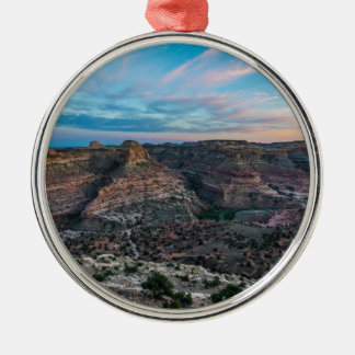 Little Grand Canyon Sunset - Wedge Overlook - Utah Silver-Colored Round Ornament