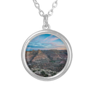 Little Grand Canyon Sunset - Wedge Overlook - Utah Silver Plated Necklace