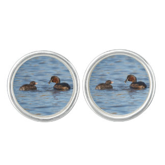 Little Grebe and Chick Cufflinks