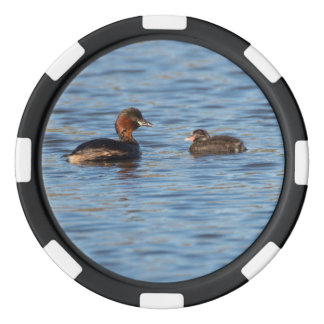 Little Grebe and Chick Set Of Poker Chips