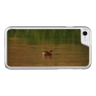 Little grebe duck in breeding plumage carved iPhone 7 case