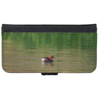 Little grebe duck in breeding plumage iPhone 6 wallet case