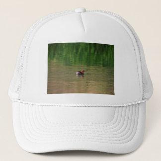 Little grebe duck in breeding plumage trucker hat
