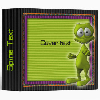 Little Green Alien Binder