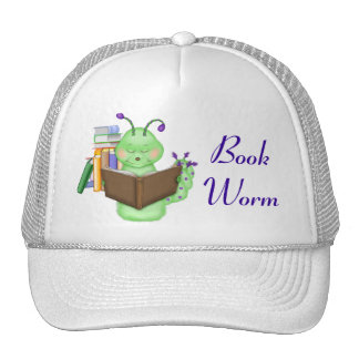 Little Green Bookworm Hats