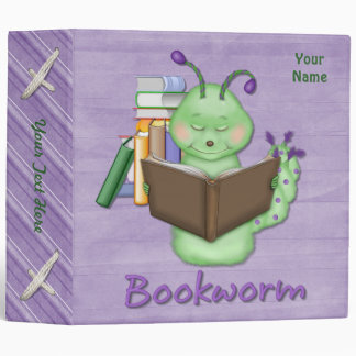 Little Green Bookworm Vinyl Binders