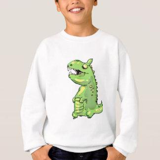 little green dinosaur cartoon sweatshirt