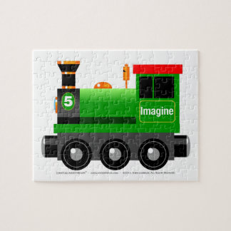 Little Green Engine Jigsaw Puzzle