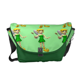 Little Green Faerie Courier Bag