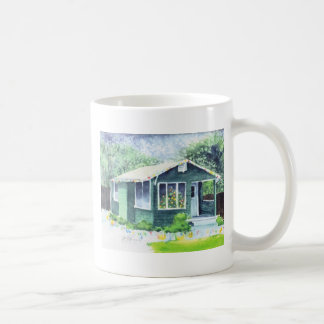 Little Green House at Christmas Mug