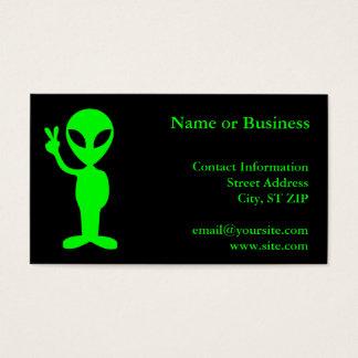 Little Green Man Business Card