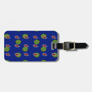 little green men and little green planets bag tag
