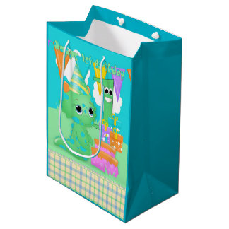 Little Green Monster 1st Birthday Gift Bag