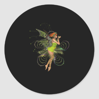 Little Green Pixie Classic Round Sticker