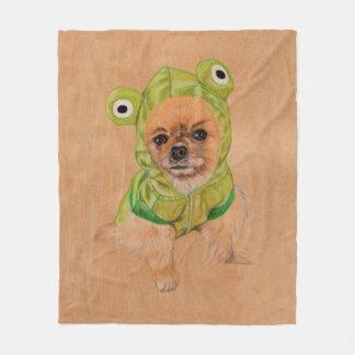 Little Greenie Fleece Blanket