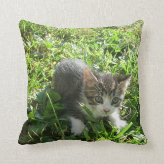 Little Grey Boy Throw Pillow