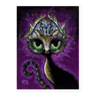 Little Guardian Gargoyle Cat postcard
