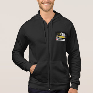 Little Guy Hoodie With Zipper And Pockets Black