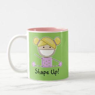 Little Gymnast Girl-Shape Up Mug