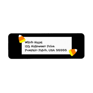 Little Halloween Candy Corn Return Address Label