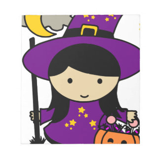 Little Halloween Witch Notepad