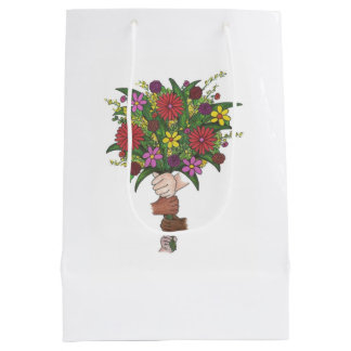 Little Hands Flower Bouquet Teacher Gift Bag