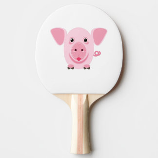 Little happy cute pink pig ping pong paddle
