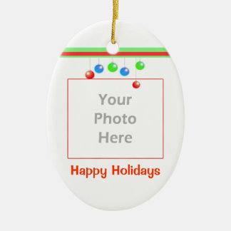 Little Happy Holiday Ornaments (2 photo frame)