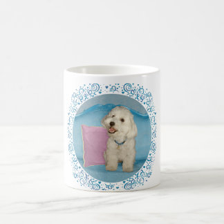 Little Havanese on Turquoise Sofa Coffee Mug